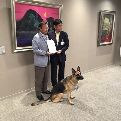 甲府市長と記念撮影