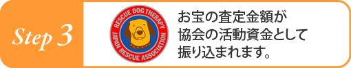 お宝の査定金額が協会の活動資金として振り込まれます。
