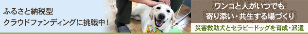 【第3弾】九州圏での災害に備え、災害救助犬・セラピードッグの育成・派遣拠点を佐賀県に作りたい!
